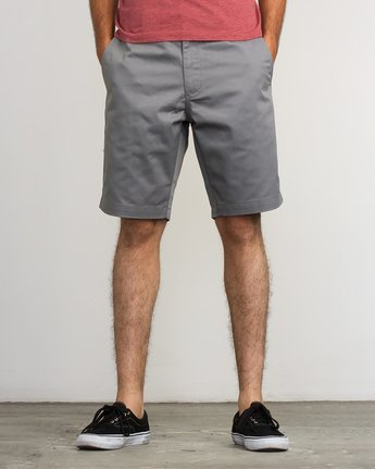 "2 week-end 20"" STRETCH SHORTS Grey MC202WKS RVCA"