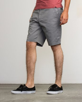 "2 WEEKEND 20"" STRETCH SHORTS Grey MC202WKS RVCA"