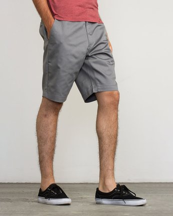 "4 WEEKEND 20"" STRETCH SHORTS Grey MC202WKS RVCA"