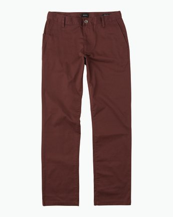 6 Week-end Stretch Pants Red MC303WST RVCA