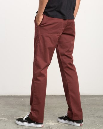 2 Week-end Stretch Pants Red MC303WST RVCA