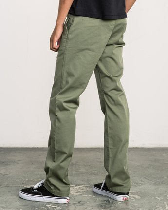 2 Week-end Stretch Pants Green MC303WST RVCA