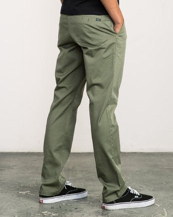 3 Week-end Stretch Pants Green MC303WST RVCA