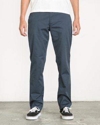1 Week-end Stretch Pants Blue MC303WST RVCA