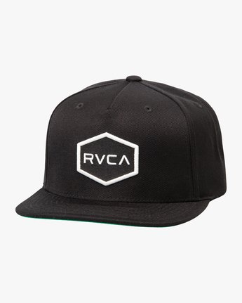 1 Commonwealth Snapback Hat Black MDAHWCWS RVCA