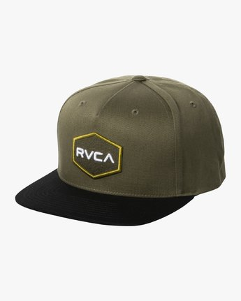 0 COMMONWEALTH SNAPBACK HAT Green MDAHWCWS RVCA