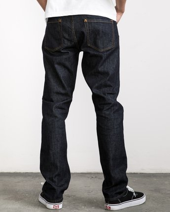4 Stay RVCA Denim Pants Blue MDDP02ST RVCA