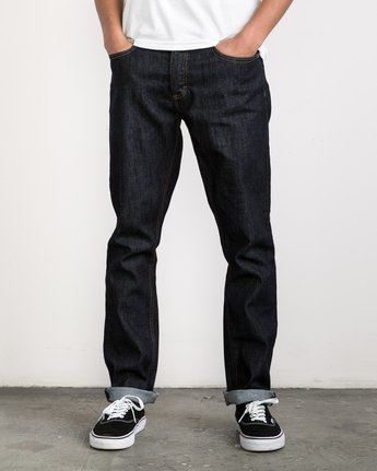 1 Stay RVCA Denim Pants Blue MDDP02ST RVCA