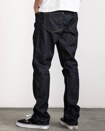 3 Stay RVCA Denim Pants Blue MDDP02ST RVCA