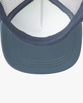 2 RVCA Foamy Trucker Hat Blue MGAHWRFT RVCA