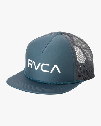 0 RVCA Foamy Trucker Hat Blue MGAHWRFT RVCA