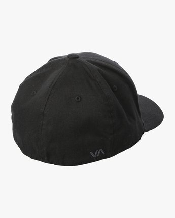 2 RVCA Flex Fit Baseball Hat Black MHAHWRFF RVCA