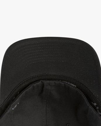 3 RVCA Flex Fit Baseball Hat Black MHAHWRFF RVCA