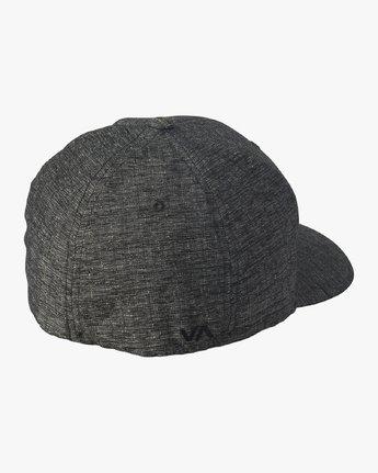 1 RVCA Flex Fit Baseball Hat Grey MHAHWRFF RVCA