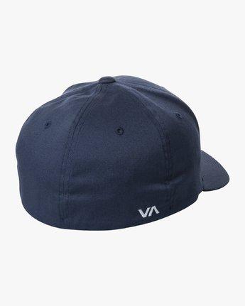 1 RVCA FLEX FIT HAT Blue MHAHWRFF RVCA