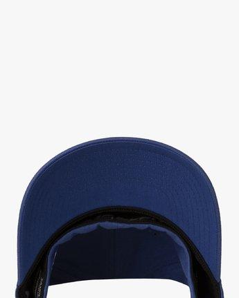 2 RVCA Flex Fit Baseball Hat Blue MHAHWRFF RVCA