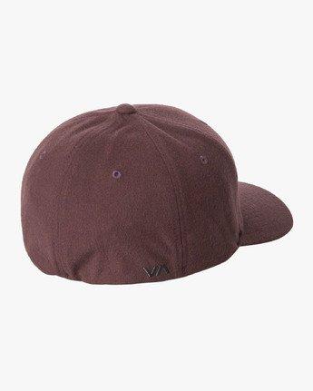 1 RVCA Flex Fit Baseball Hat Purple MHAHWRFF RVCA