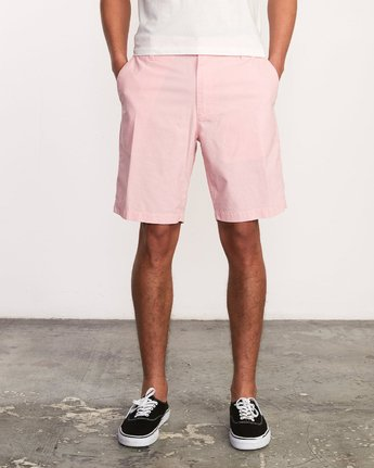 1 That'll Walk Oxford Short Pink MJ214TWO RVCA