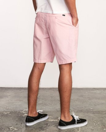 5 That'll Walk Oxford Short Pink MJ214TWO RVCA