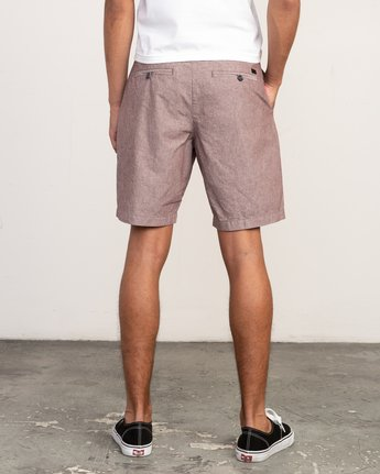 4 That'll Walk Oxford Short Red MJ214TWO RVCA