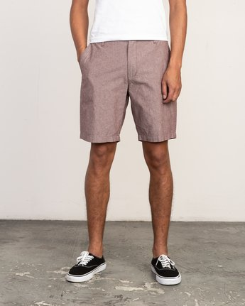 1 That'll Walk Oxford Short Red MJ214TWO RVCA