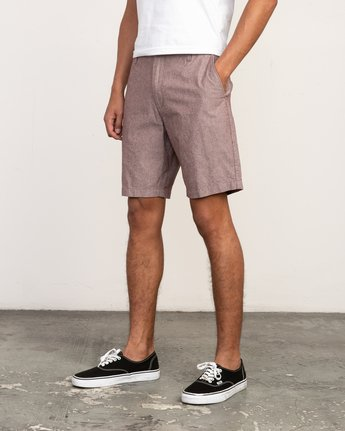 2 That'll Walk Oxford Short Red MJ214TWO RVCA