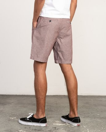 3 That'll Walk Oxford Short Red MJ214TWO RVCA
