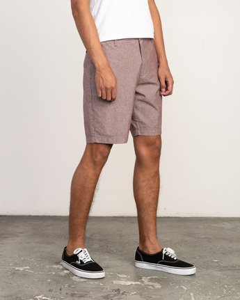 6 That'll Walk Oxford Short Red MJ214TWO RVCA