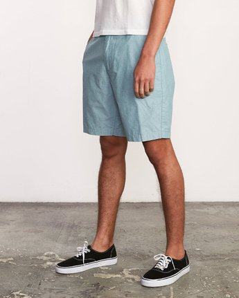 "2 That'll Walk Oxford 19"" WalkShort Blue MJ214TWO RVCA"
