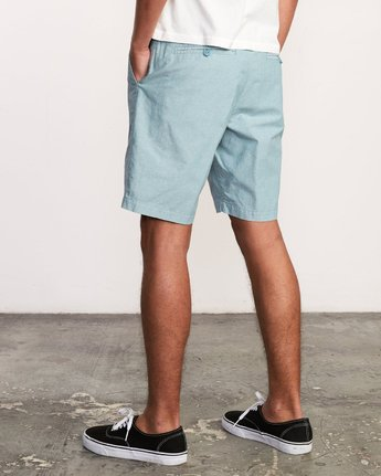 3 That'll Walk Oxford Short Blue MJ214TWO RVCA