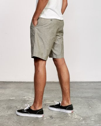 "3 That'll Walk Oxford 19"" WalkShort Green MJ214TWO RVCA"