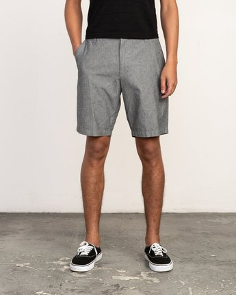 1 That'll Walk Oxford Short Black MJ214TWO RVCA