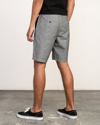 3 That'll Walk Oxford Short Black MJ214TWO RVCA