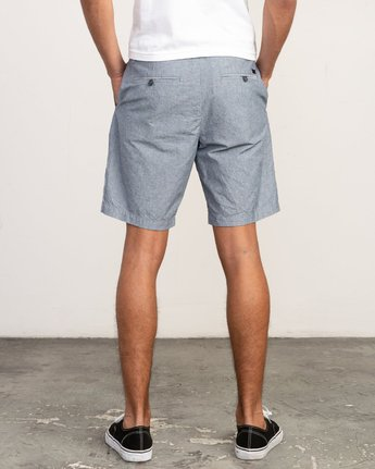 4 That'll Walk Oxford Short Blue MJ214TWO RVCA