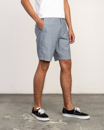 6 That'll Walk Oxford Short Blue MJ214TWO RVCA