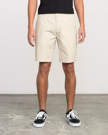 1 That'll Walk Oxford Short Yellow MJ214TWO RVCA