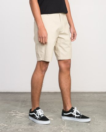 6 That'll Walk Oxford Short Yellow MJ214TWO RVCA