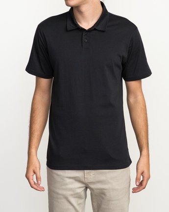 1 Sure Thing II Polo Black MJ922SUR RVCA