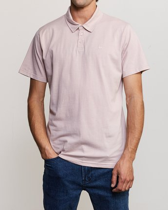 1 Sure Thing II Polo Pink MJ922SUR RVCA