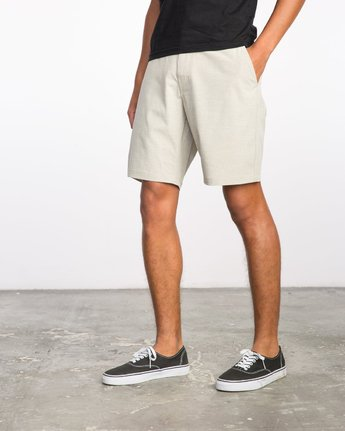 2 Balance Hybrid Shorts Beige MK201BAL RVCA