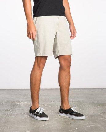6 Balance Hybrid Shorts Beige MK201BAL RVCA