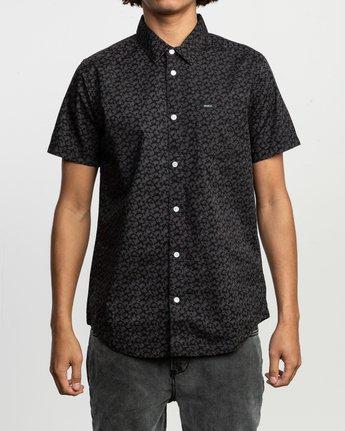 1 Porcelain Printed Short Sleeve Shirt Black MK507POR RVCA