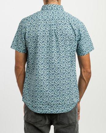 3 Porcelain Printed Short Sleeve Shirt Blue MK507POR RVCA