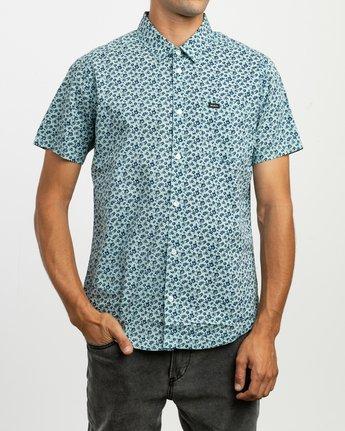 1 Porcelain Printed Short Sleeve Shirt Blue MK507POR RVCA