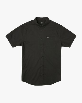 0 That'll Do Stretch Short Sleeve Shirt Black MK515TDS RVCA