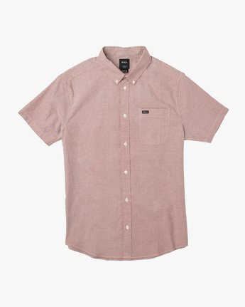 0 That'll Do Stretch Short Sleeve Shirt Red MK515TDS RVCA