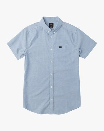 3 That'll Do Stretch Short Sleeve Shirt Blue MK515TDS RVCA