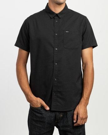 1 That'll Do Stretch Short Sleeve Shirt Black MK515TDS RVCA