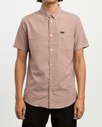 1 That'll Do Stretch Short Sleeve Shirt Red MK515TDS RVCA
