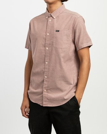 2 That'll Do Stretch Short Sleeve Shirt Red MK515TDS RVCA